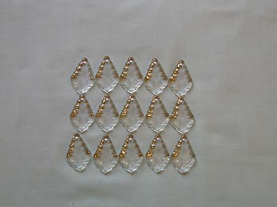 15 small lovely glass  pendaloques chandelier drops (D267)