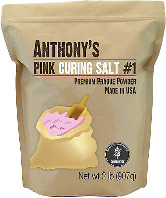 Anthonys Pink Curing Salt 2lb Instacure Prague Powder No.1 Meat Pack Quick Cure