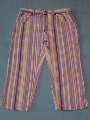 Purple and Pink Striped Girls Pants/Jeans, Size 7-8 Years