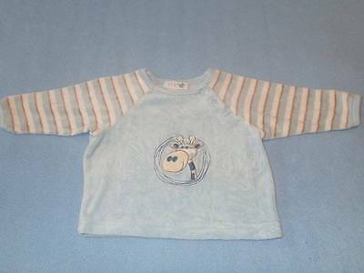 Target Cute Little Boys Velour Giraffe Top, Size 000