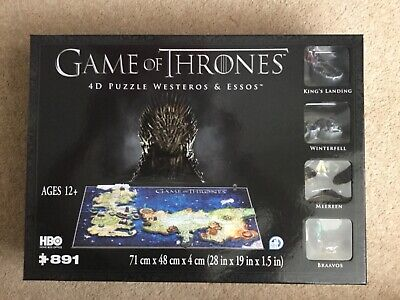 NEW Game of Thrones 4D Cityscape Puzzle of Westeros /& Essos 891 pieces HBO