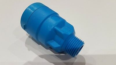 """John Guest MDPE pipe fitting - bag of 4 - connector 20mm to 1/2"""" male"""