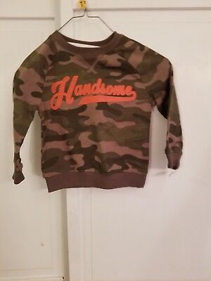 NWT Handsome Boy CARTER'S long Sleeve Shirt Camo Toddler 18 Months Hunting Army