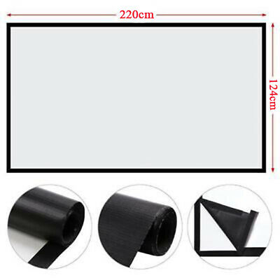 Portable Manual HD Projector Projection Screen 16:9 Home Cinema Theater