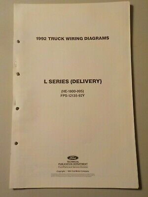 1992 ford l series delivery truck electrical schematic wiring diagram manual