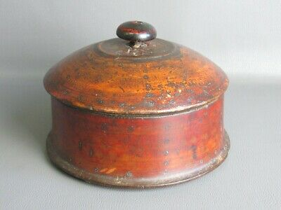 Antique Box Eastern Container Wood Lacquered & Painting XIX Century Rare