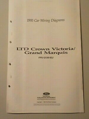 1993 ford ltd crown victoria mercury grand marquis wiring diagram manual