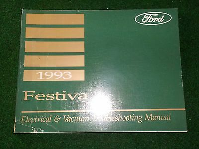 1993 ford festiva electrical wiring diagram manual dealer factory