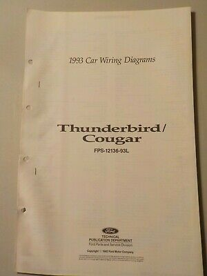 1984 ford thunderbird mercury cougar electrical wiring diagram 1993 ford thunderbird mercury cougar electrical schematic wiring diagram manual