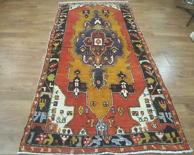"Colorful Semi-Antique 5x10 Anatolian Turkish Oriental Area Rug 5' 0"" x 10' 2"""