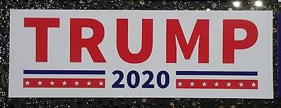 Lot of 20 President Donald Trump 2020 Bumper Stickers Free Shipping