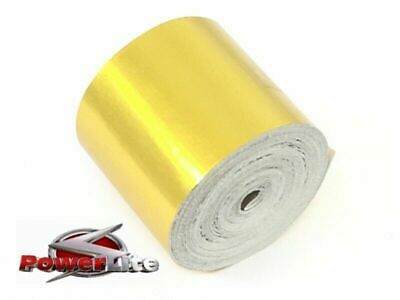 GENUINE POWERLITE UK GOLD REFLECTIVE THERMAL HEAT PROTECTION TAPE 50mm x 9m