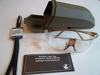 Ballistic Laser Eye Protection System BLPS Military Class 1 Carry Case Nose Pads