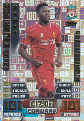 TOPPS MATCH ATTAX PL 2016-17 Daniel Sturridge - Liverpool - 100 CLUB LEGENDS 464