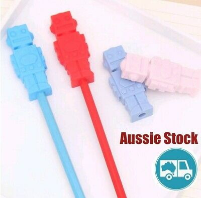 Silicone Robot Pencil Pen Cap Oral Dental Sensory Chew Input Autism Anxiety