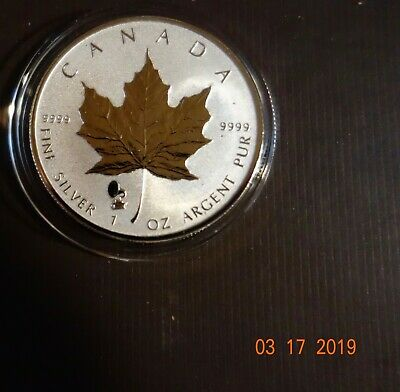 2019 Canadian $5 1 Oz .9999 Fine Silver Maple Leaf - No Reserve