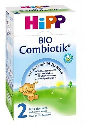 HiPP Combiotic 2 Organic follow-on milk, 600g ( 5 boxes) Fresh from Germany