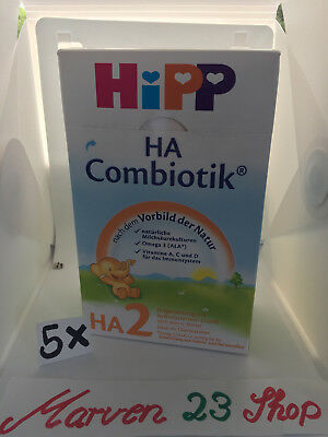 HiPP Organic HA2 Combiotic Hypoallergenic infant (5 boxes) Fresh from Germany