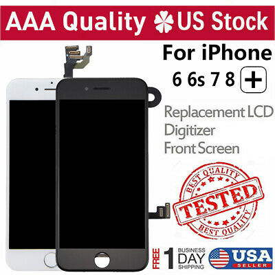 For iPhone 6S 6 7 8 Plus LCD Digitizer Touch Screen Replacement Button & Camera