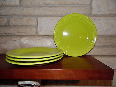 Fiesta 10.5 Dinner Plates Lemongrass set of 4 NEW  Fiestaware