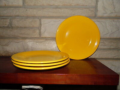 Fiesta 10.5 Dinner Plates Daffodil set of 4 NEW  Fiestaware