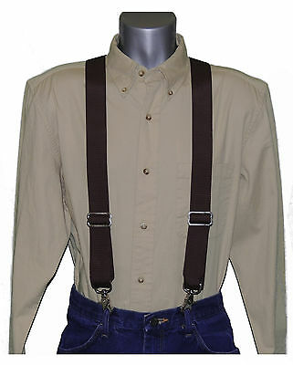 Side Clip Suspenders Trigger Snap 1.5-Inch Wide