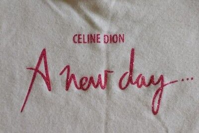 Celine Dion A New Day T Shirt White Pink Size Women 2XL - SEE MEASUREMENTS