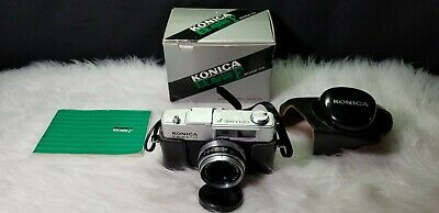 Konica EE Matic Deluxe F Rangefinder 35mm Film Camera with 42mm Lens F2.8
