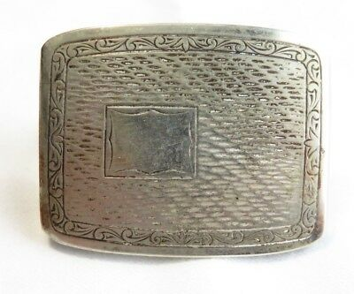 Antique Nicklesilver And Silver Plated Belt Buckle