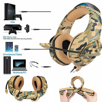 Gaming Headset Noise Reduction MIC LED Headphone for PC Laptop PS4 Slim Xbox One