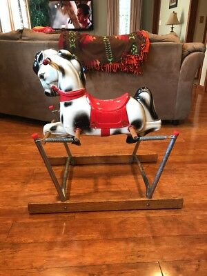 """Vintage 1950's Duke Harry """"The Hairless Horse"""" Spring Action Rocking Horse"""