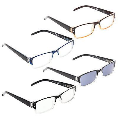 145c6a9a7b98 READING GLASSES 4 pack Include Sunshine Readers +2.00