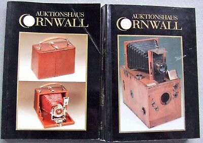 2 x AUKTIONSHAUS CORNWALL  PHOTOGRAPHICA AUCTION CATALOGUES IN GERMAN.  1990