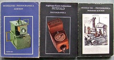3 x PETZOLD KG  PHOTOGRAPHICA AUCTION CATALOGUES IN GERMAN.  1978