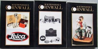 3 x AUKTIONSHAUS CORNWALL  PHOTOGRAPHICA AUCTION CATALOGUES IN GERMAN.  1993/94