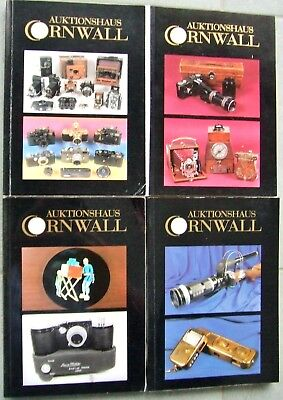 4 x AUKTIONSHAUS CORNWALL  PHOTOGRAPHICA AUCTION CATALOGUES IN GERMAN. 1999/2000