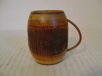 Vintage Souvenir Of Grand Canyon Of Pa Hand Carved Wooden Mug