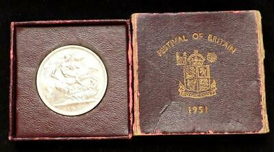 1951 George VI Festival Of Britain Boxed Crown Coin,..