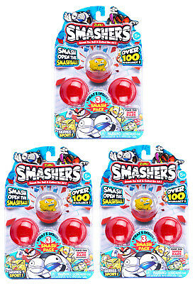 New Smashers 3 Figure Pack Series 1 Sport Random Zuru Official