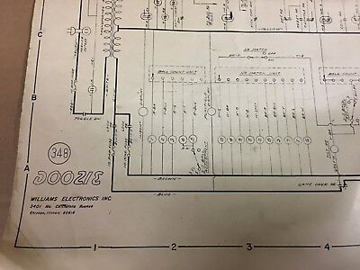 Doozie Electromechanical Pinball Manual Fold-Out Schematic