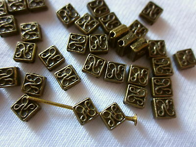 50 Antique Bronze Coloured 5mmx5mm Celtic Style Spacer Beads #sp1352 Findings