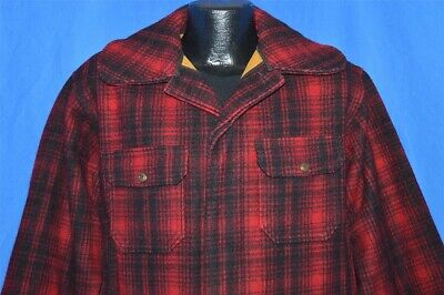 4d22b5182c0a9 vtg 60s WOOLRICH 503 RED BLACK CHECK BUFFALO PLAID WOOL HUNTING WINTER  JACKET 40