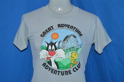 vintage 90s GREAT ADVENTURE CLUB LOONEY TUNES SYLVESTER TWEETY t-shirt YOUTH L