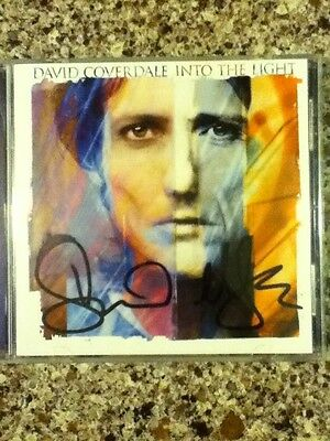 Into the Light * by David Coverdale, of Whitesnake (CD, Nov-2000) Signed!