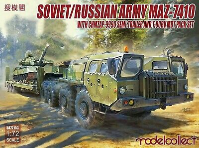Modelcollect 1/72nd Scale Soviet Russian Army MAZ-7410 Kit No. UA72153