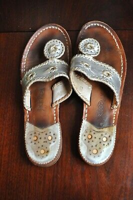 d0dc66d2c Jack Rogers Two tone Gold and Silver sandal thong size 7