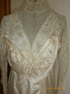 Beautiful Original Edwardian Wedding Dress Study/Restoration Project
