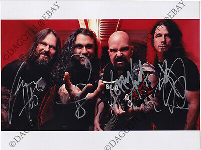 SLAYER 8x10 Photo, FULLY SIGNED Tom Araya Kerry King +2 Reign in Blood AUTOGRAPH