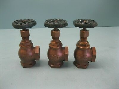 "Lot (3) 1-1/4"" NPT Kennedy 125# Bronze Angle Valve NEW C18 (2361)"