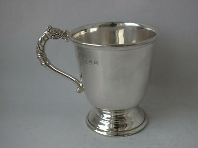 Irish Solid Sterling Silver Celtic Dragon Handle Cup/ Mug 2000/ H 6.6 cm/ 97 g